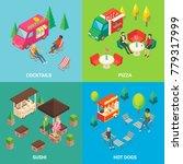 set of street food concept... | Shutterstock . vector #779317999
