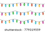 christmas lights isolated on ... | Shutterstock .eps vector #779319559