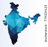polygonal map of india | Shutterstock .eps vector #779324125