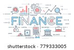 finance  investment  analytics  ... | Shutterstock .eps vector #779333005