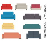 set of pieces of furniture ...   Shutterstock . vector #779350981