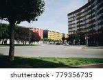 empty street of burgos  spain.... | Shutterstock . vector #779356735