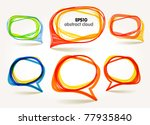 abstract hand drawn talking... | Shutterstock .eps vector #77935840