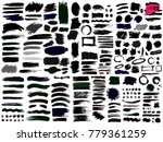 big of collection of black... | Shutterstock .eps vector #779361259
