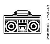 old radio stereo | Shutterstock .eps vector #779362375