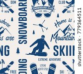 ski and snowboard club seamless ... | Shutterstock .eps vector #779364511