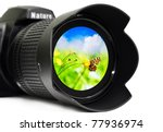 Camera Lens With Butterfly...