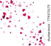 heart confetti beautifully... | Shutterstock .eps vector #779373175