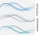 grey and blue wave.a set of... | Shutterstock .eps vector #779375119