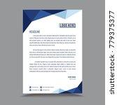 letterhead template design | Shutterstock .eps vector #779375377