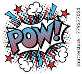 Cartoon Pop Art Pow  Text...