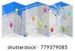 map city fold   Shutterstock .eps vector #779379085