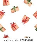 watercolor gift boxes  hand...   Shutterstock . vector #779384989