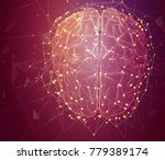 three dimensional vector cyber... | Shutterstock .eps vector #779389174