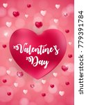 happy valentines day card with... | Shutterstock .eps vector #779391784