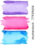 colorful watercolor strokes  ...   Shutterstock . vector #77939656