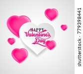 happy valentines day pink paper ... | Shutterstock .eps vector #779398441