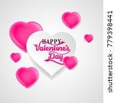 happy valentines day pink paper ... | Shutterstock .eps vector #779398441