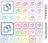 copy document color flat icons... | Shutterstock .eps vector #779404321