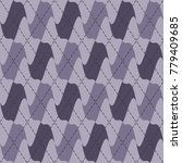 abstract purple argyle knit... | Shutterstock .eps vector #779409685