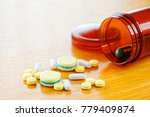 many colors pill or drugs are... | Shutterstock . vector #779409874