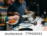 two friends chefs or cooks...   Shutterstock . vector #779420431