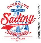 sailing poster design template. ... | Shutterstock .eps vector #779420797