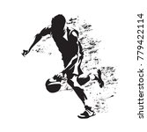 basketball player running with... | Shutterstock .eps vector #779422114