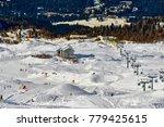 Small photo of Ski resort Madonna di Campiglio.Panoramic landscape of Dolomite Alps in Madonna di Campiglio. Italy