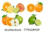 citrus fruit set  orange  apple ... | Shutterstock . vector #779428939