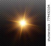 transparent sunlight lens flare ... | Shutterstock .eps vector #779432104