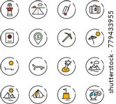 line vector icon set   airport... | Shutterstock .eps vector #779433955