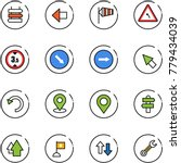line vector icon set   sign... | Shutterstock .eps vector #779434039