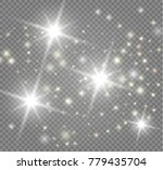 the bright star on transparent... | Shutterstock .eps vector #779435704