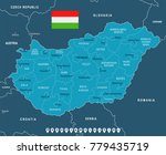 hungary map and flag   high... | Shutterstock .eps vector #779435719