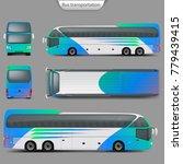 realistic vector coach bus...   Shutterstock .eps vector #779439415