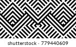 seamless pattern with striped... | Shutterstock .eps vector #779440609