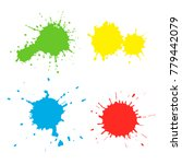 set of paint spots of different ...   Shutterstock .eps vector #779442079