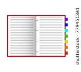 open notebook on light white... | Shutterstock .eps vector #779451361