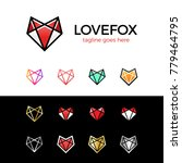 love fox head logo line fox.... | Shutterstock .eps vector #779464795
