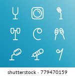 audio icon line set with tuning ... | Shutterstock .eps vector #779470159