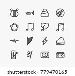 sound icon line set with song... | Shutterstock .eps vector #779470165