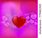 red heart on pink blackground... | Shutterstock .eps vector #779481505