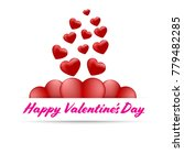 banners happy valentines day on ... | Shutterstock .eps vector #779482285
