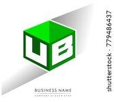 letter ub logo in hexagon shape ...
