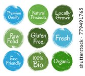 gluten free fresh raw food... | Shutterstock .eps vector #779491765