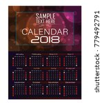 calendar for 2018 abstract... | Shutterstock .eps vector #779492791
