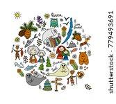 travel icons set  baikal ... | Shutterstock .eps vector #779493691