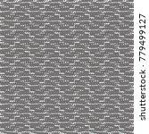 knitted cotton. monochrome... | Shutterstock .eps vector #779499127