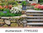 Stone Wall  Steps And Planter...